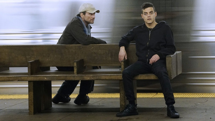 MR. ROBOT -- Photo Christian Slater, Rami Malek