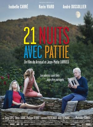"""AFFICHE """"VINGT ET UNE NUITS AVEC PATTIE"""" un film de Arnaud et Jean-Marie Larrieu"""