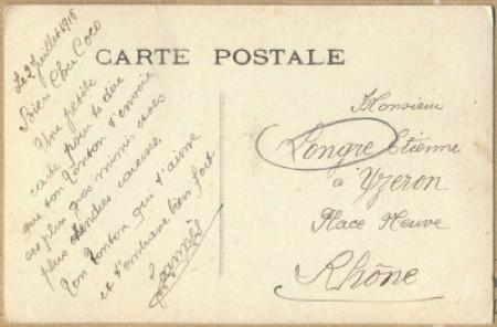Olivier Longre – Lettre à Jeanne carte postale