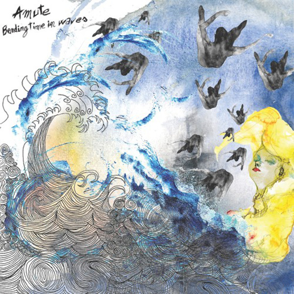 aMute - Bending Time in Waves cover album