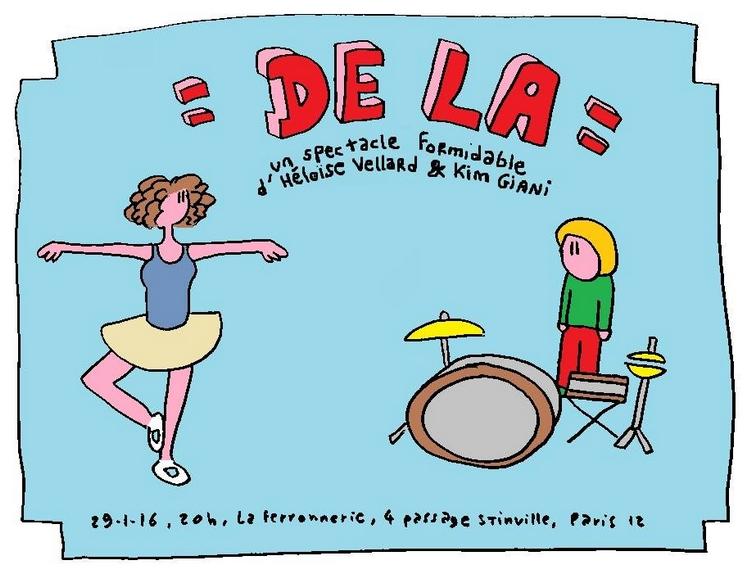 """Affiche du spectacle """"De la"""""""