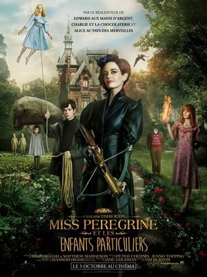 Miss Peregrine et les enfants particuliers : Affiche du film de Tim Burton