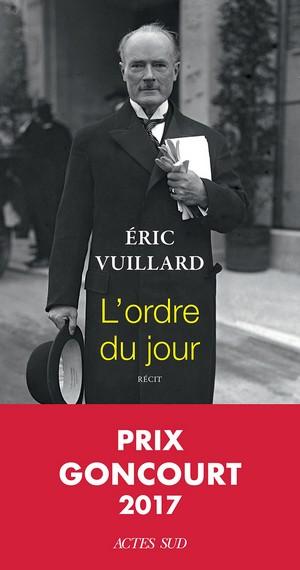 L'ordre du jour - Eric Vuillard couverture