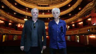 Frank Darcel et Philippe Pascal sur la scène de l'opéra du Rhin.