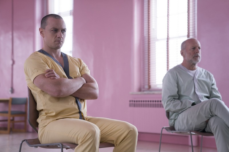 Glass : Photo Bruce Willis, James McAvoy