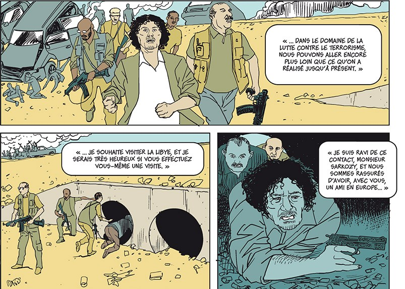 Sarkozy – Kadhafi des billets et des bombes planche