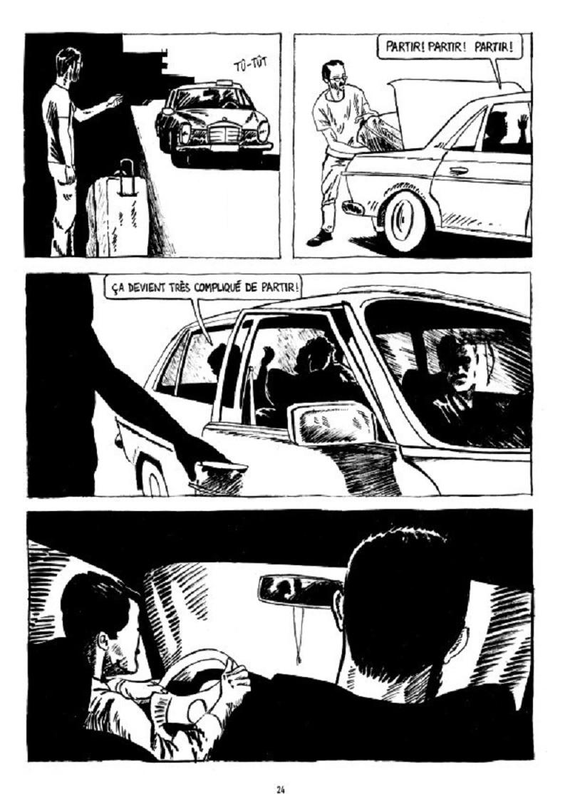 Dans le taxi Extrait